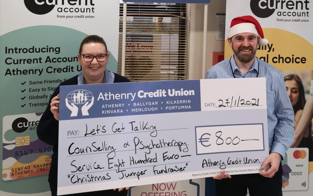 Athenry Credit Union raise €800 for Let's Get Talking